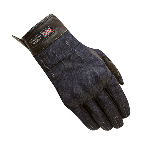 Merlin Icon Leather Gloves, Blue Large